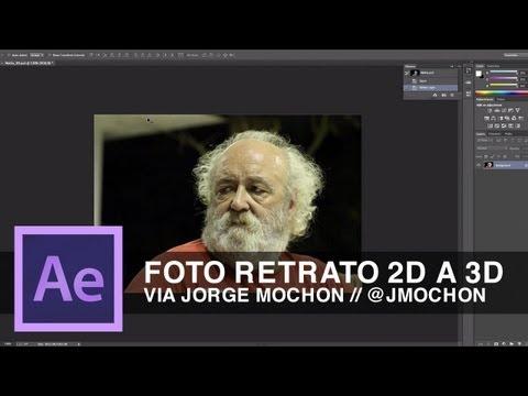 Tutorial After Effects // Foto de retrato 2D a 3D by @jmochon