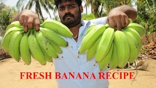 Cooking Fresh BANANA RECIPE in My Village | Two Variety Recipe | VILLAGE FOOD