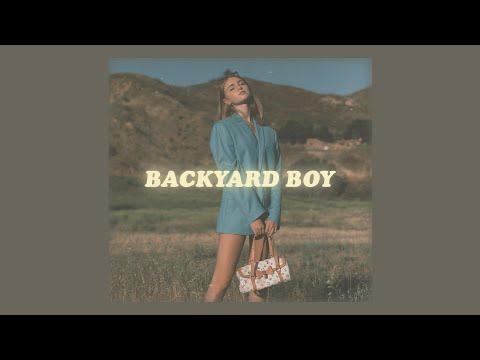 dance with me in my backyard boy (lyrics) // claire rosinkranz 'backyard boy'