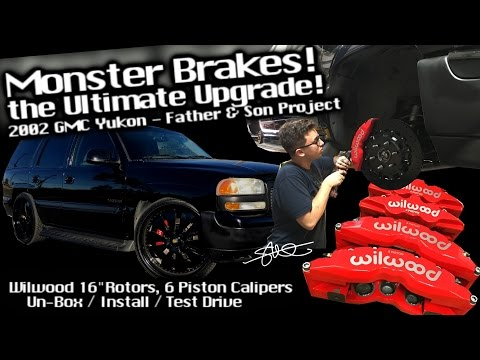 "MONSTER Brakes! The ULTIMATE upgrade '02 GMC Yukon - Wilwood 16"" Rotors 6 Piston Calipers Installed"