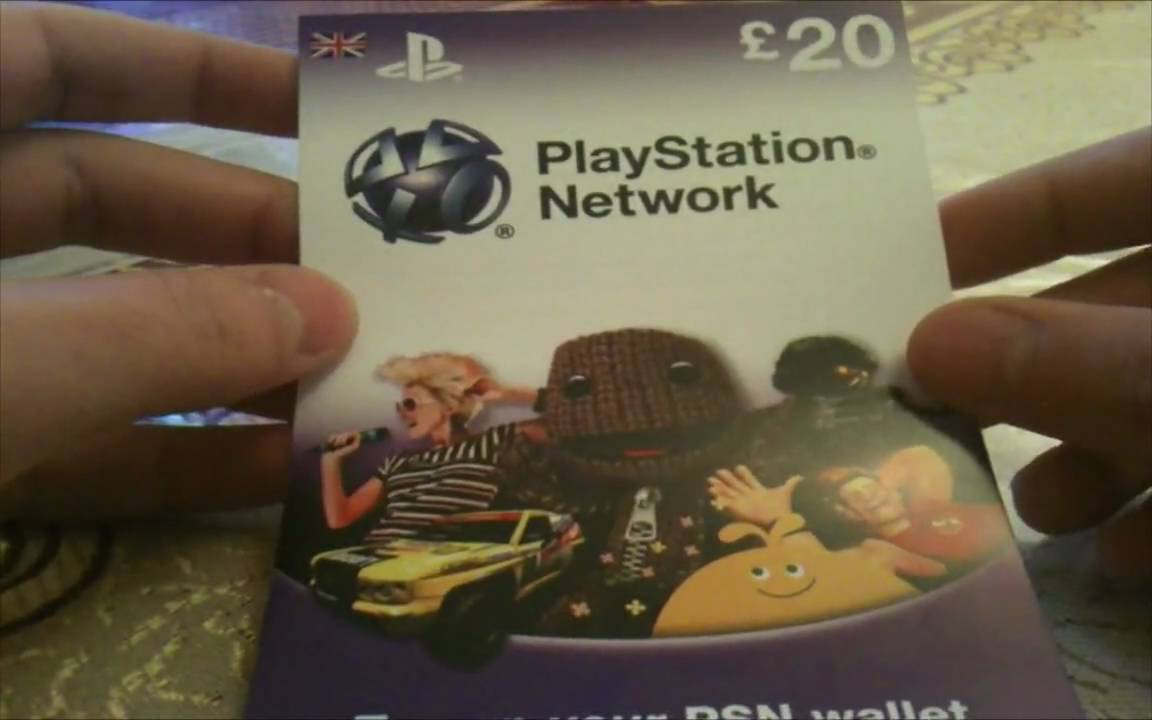Playstation Network Gift Card Unboxing 20 Youtube