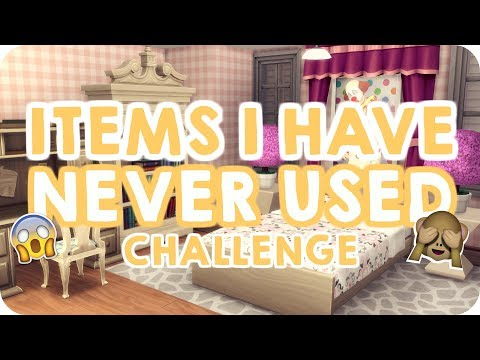 ITEMS I'VE NEVER USED CHALLENGE   Sims 4 House Building