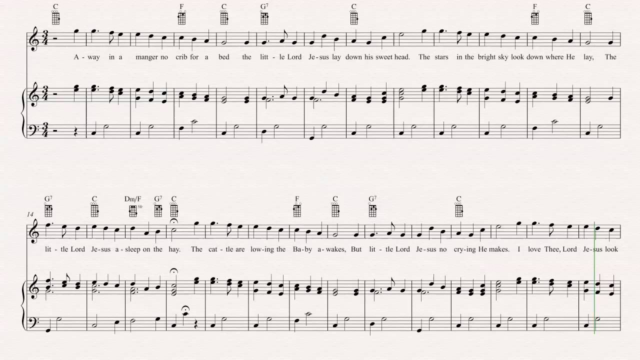 Ukulele away in a manger christmas carol sheet music chords ukulele away in a manger christmas carol sheet music chords vocals hexwebz Gallery