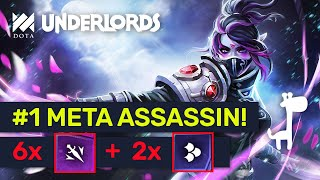 6 ASSASSINS ARE OP! New Patch Buff! Epic ★★★ Comebacks!   Dota Underlords