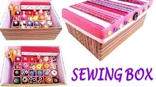 DIY Sewing BOX out of shoebox