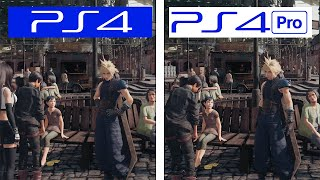 Final Fantasy VII Remake | PS4 VS PS4 Pro | Final Version Graphics & FPS Comparison