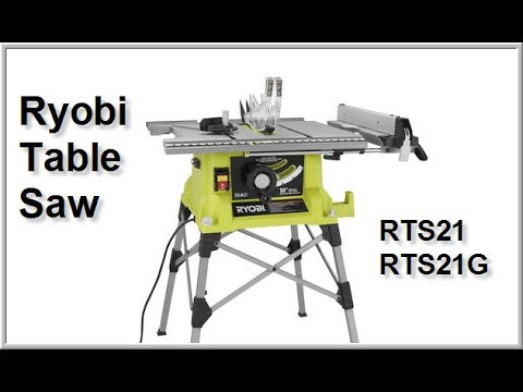Ryobi RTS21G Table Saw Part 1 - YouTube