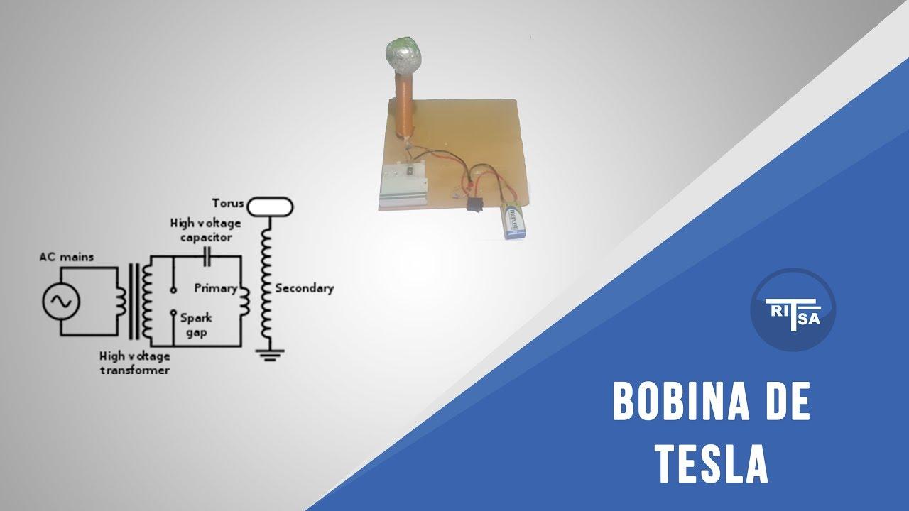 Circuito Bobina De Tesla : Creación de bobina de tesla circuito youtube