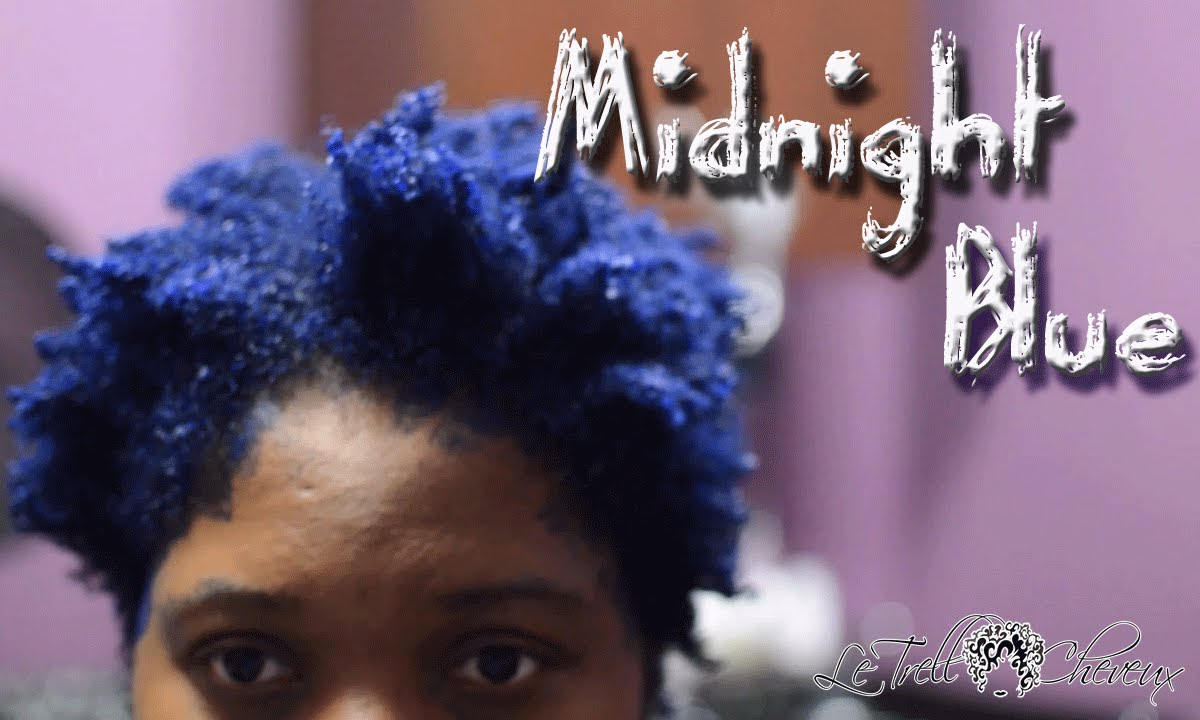 midnight blue hair natural hair colored how to color natural hair with pravana vivids - Midnight Blue Black Hair Color