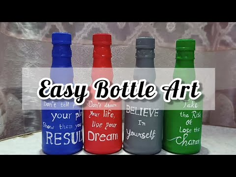 DIY Easy Bottle Art | Glass Small Bottle Painting Ideas | Archie Gallery