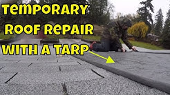 How to temporarily cover your roof when it leaks using a tarp!