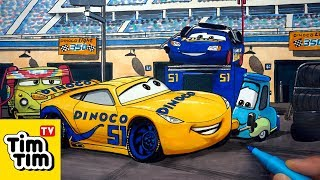 How-to-draw Dinoco 51 Cruz with Fabulous Lightning McQueen CARS 3 End Credits Picture