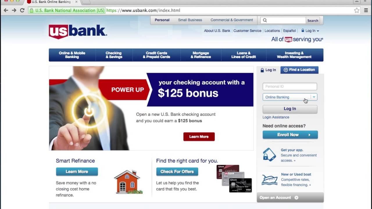 US Bank Online Banking Login Instructions