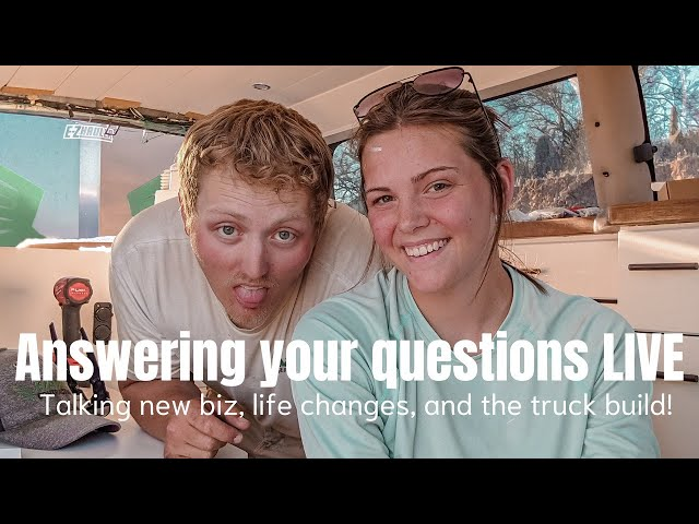 Answering Your Questions LIVE! Talking New Business, Life Changes, and the Truck Build! 10k GIVEAWAY