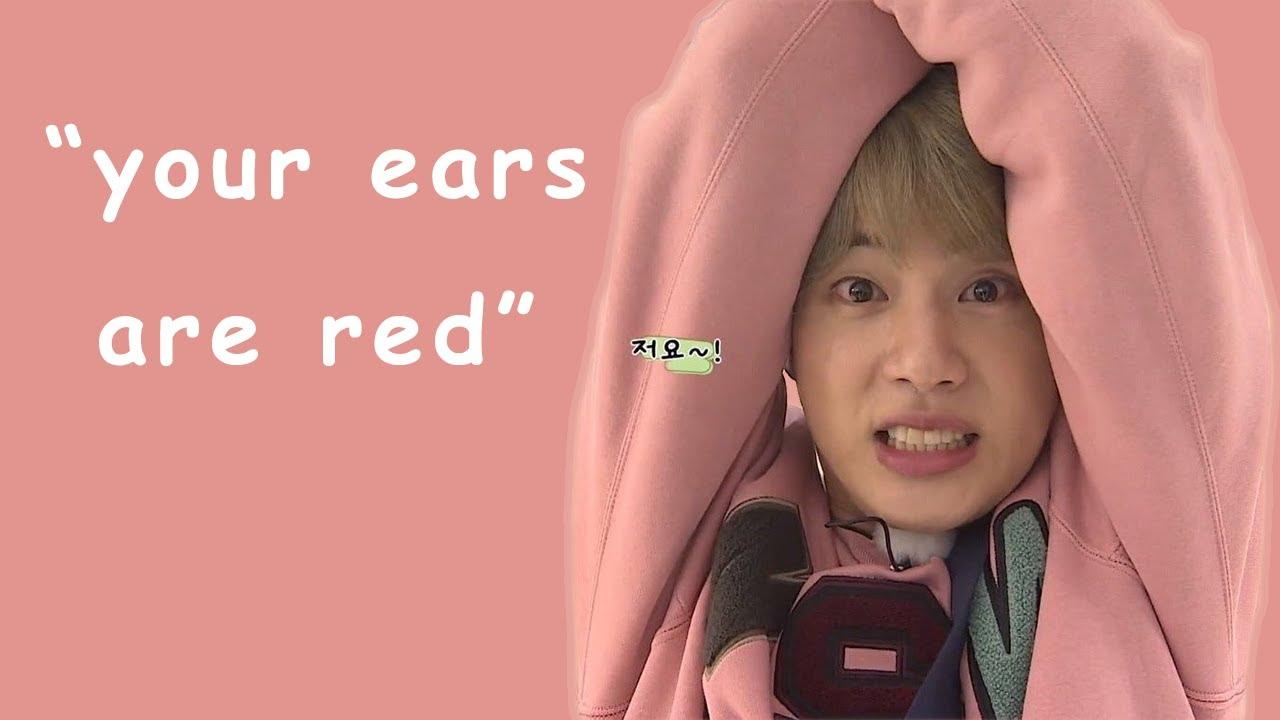 jin turning red (face, ears... flustered?) | 방탄소년단 석진 BTS