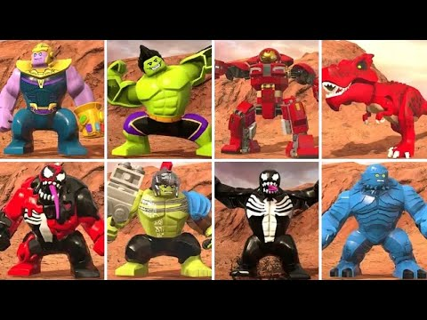 All Big Fig Characters in LEGO Marvel Super Heroes 2 (W/ All DLC)