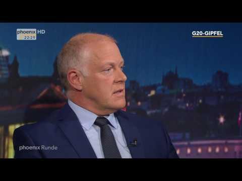 """""""Weltpolitik und Proteste - G20 in Hamburg"""" - phoenix Runde am 06.07.2017"""