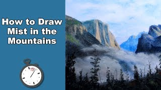 How to Draw Early Morning Mist in a Valley in Pastel Time Lapse