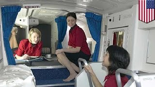 Boeing 787 Dreamliner: Secret rest cabin for pilots and flight attendants revealed - TomoNews