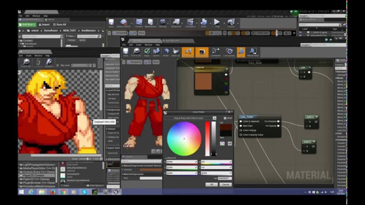 MFG: PROJECT: Unreal Fighter 2D Unreal 4 Meets Mugen! Update: 19 03