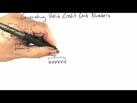 Generating Credit Card Numbers