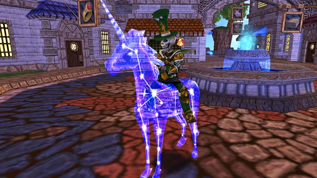 Wizard101: Checking out the NEW Astral Unicorn Mount!