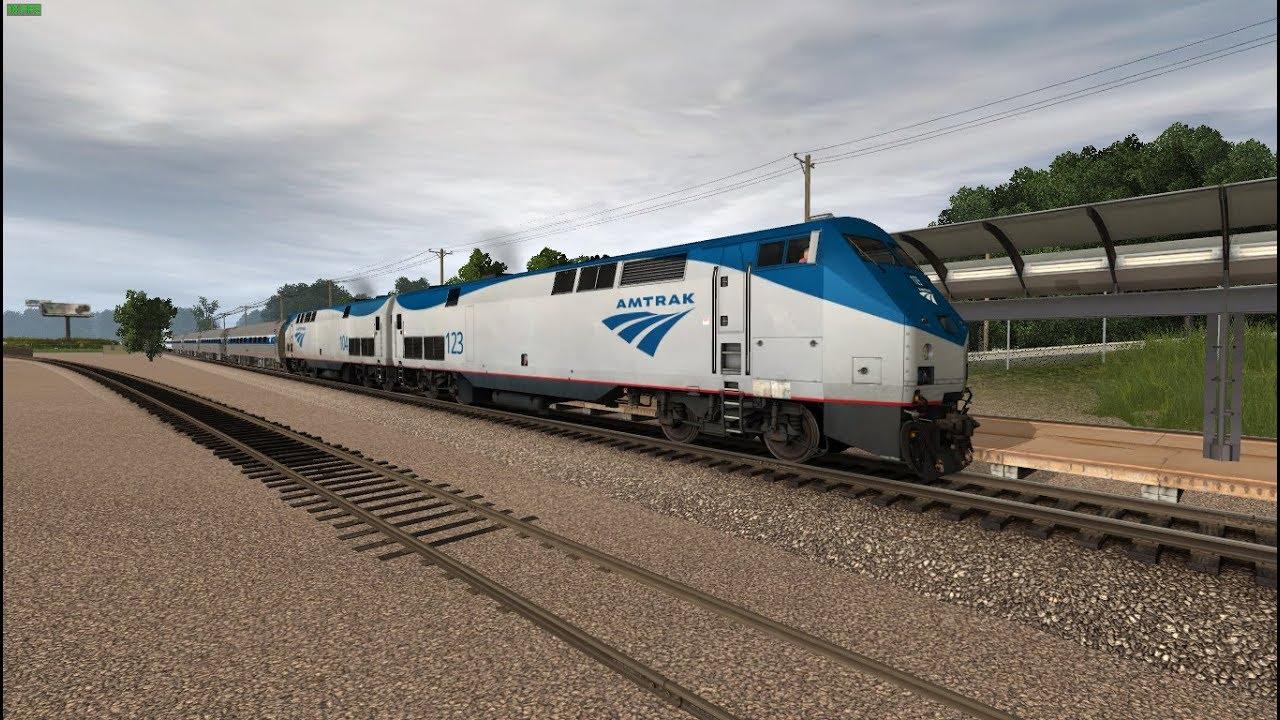 Trainz: Short Cabride to Peachtree Station Amtrak P42DC