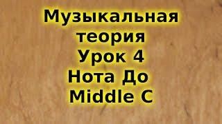 Музыкальная теория для начинающих. Урок 4. Нота До. Middle C. Trinity. Подготовка к Grade 1.
