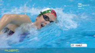 Simona Quadarella Finale1500 SL Europei di nuoto Londra 2016