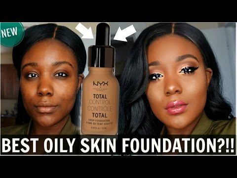 NEW NYX Total Control Drop Foundation REVIEW + DEMO I Acne Scars/Dark Skin 2018 - Rose Kimberly