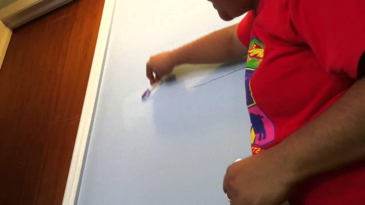 Limpiar permanente de la pared quitar mancha rotulador - Quitar manchas de la pared ...