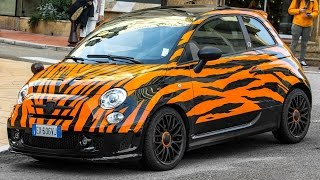 LAPO ELKANN 's ABARTH 595 TIGER IN MONACO - First video after the theft 2016 HQ