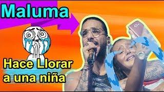 Maluma Hace Llorar a una Niña Noticias 2018