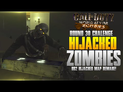 Call of Duty Custom Zombies! - Black Ops 2 Hijacked Custom Zombies Gameplay! (ROUND 30 CHALLENGE!)