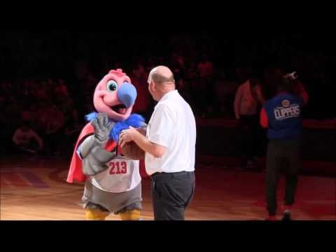 Steve Ballmer & Chuck the Condor Dunks: Doc Rivers, Chris Paul, Jamal Crawford, JJ Redick