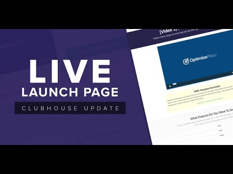 OptimizePress Club: Live - Launch Page Template - YouTube