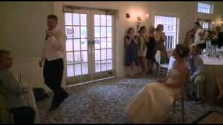 Groom sings to Bride at reception -
