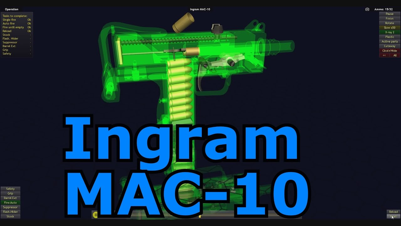 Lets Play World of Guns: Gun Disassembly 75 - Ingram MAC 10