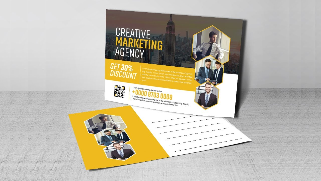 Creative Business Postcard Design | Photoshop Tutorials