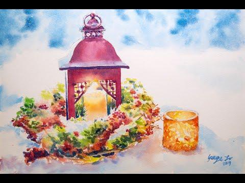 水彩教學:聖誕節日 Christmas  〈GEO Watercolor〉