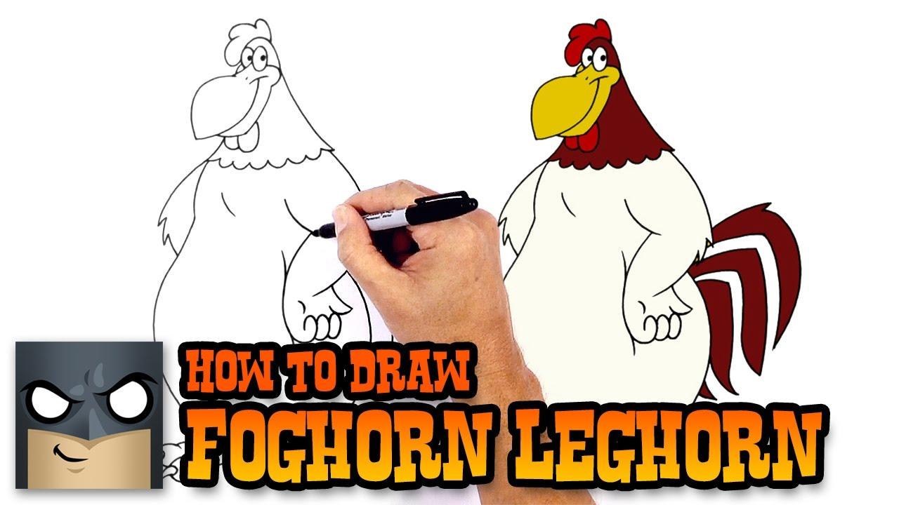 how to draw foghorn leghorn looney tunes youtube
