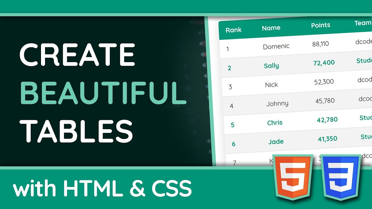 Table CSS Creating beautiful HTML tables with CSS   DEV Community