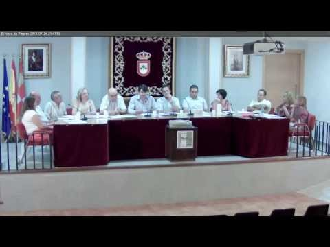 El Hoyo de Pinares, Pleno Ayuntamiento 24 julio 2013