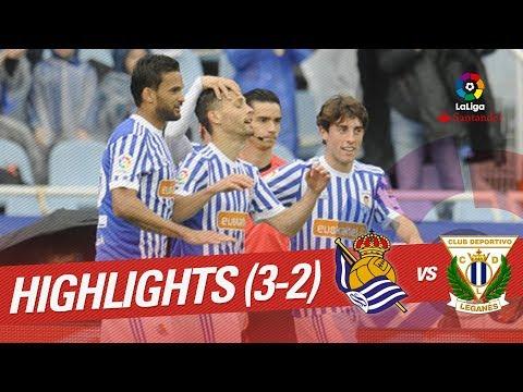 Resumen de Real Sociedad vs CD Leganés (3-2)