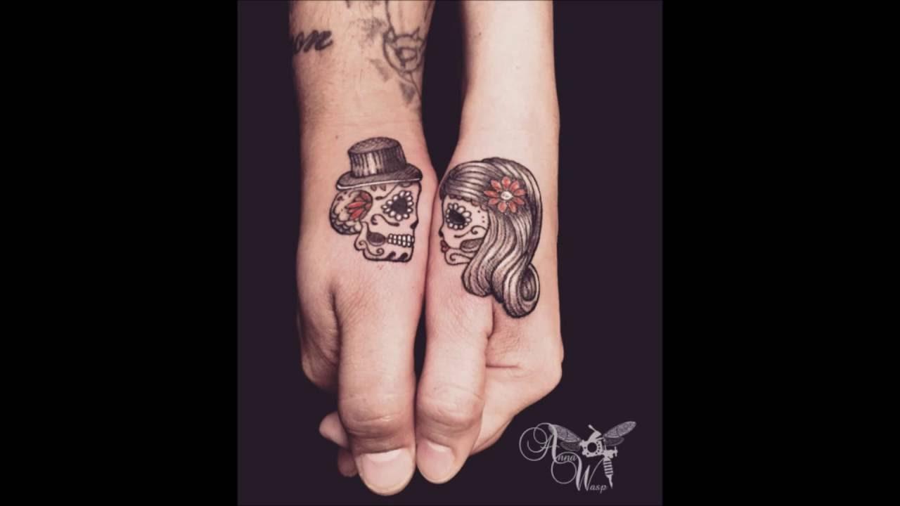Tatuaje En Pareja Con Calaveras Youtube