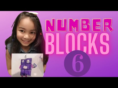 Numberblocks-HOW TO DRAW NUMBER 6   CARTOON ART   PUNNO'S PAINTING.
