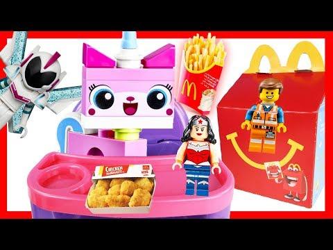 Lego Movie 2 Unikitty Happy Meal Toys at McDonalds