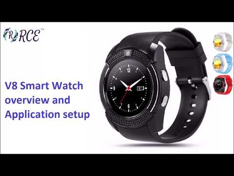 v8 Smart Watch Overview and Application Setup - YouTube