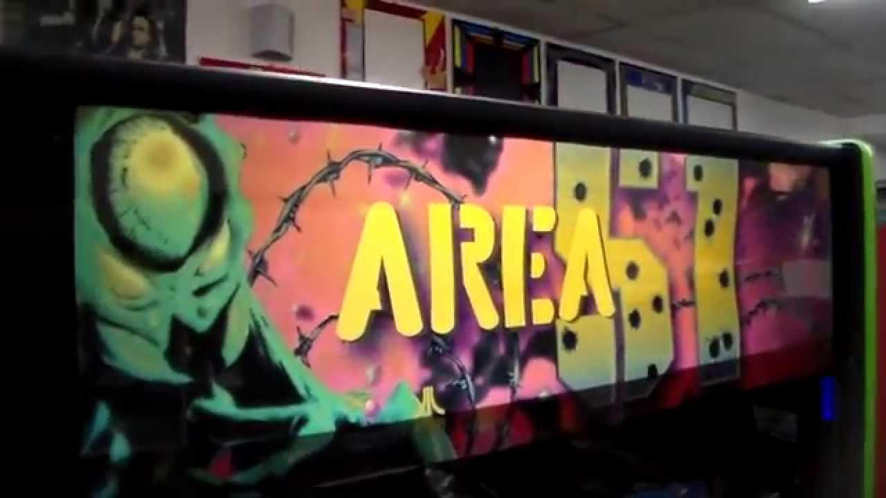 Atari's Classic Area 51 Arcade Game ! Cabinet design, artwork ...
