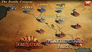 DomiNations iOS Playthrough Part 1 - Fertile Crescent, Assyria, and Nineveh